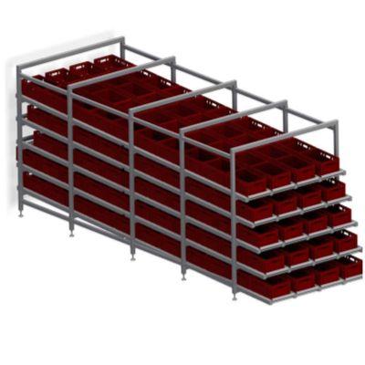 Система складирования и транспортировки пластиковых ящиков