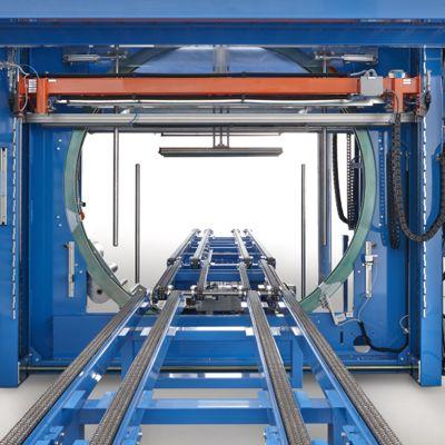 Орбитальный паллетообмотчик для упаковки в стрейч-пленку stretch