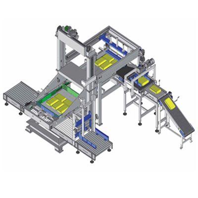 Паллетизатор конвейерного типа для рвущихся мешков
