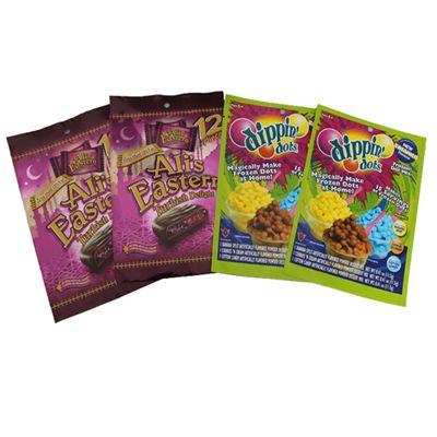 Упаковка семян, специй, приправ в 4 шовные пакеты сашэт с проваркой по граням