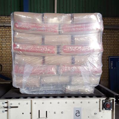 Мешки упакованы в стрейч худ пленку без использования паллет