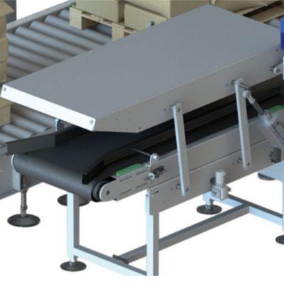 Прессующий конвейер для наполненных мешков