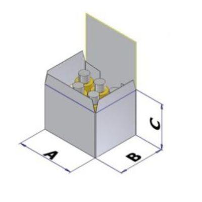 Картонная коробка для вертикального картонатора АСВ 50