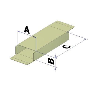 Картонная коробка для горизонтального картонатора