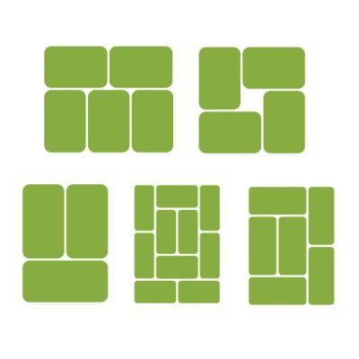 Схема раскладки мешков с продукцией на поддонах
