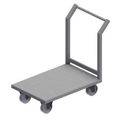 Платформа тележка на колесах на производство