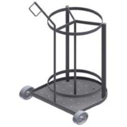 Тележки для коптильных палок на колесах