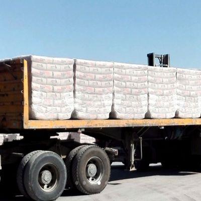 Упакованный цемент в мешках без паллет