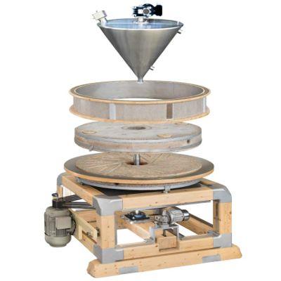 Каменная мельница для производства муки - схема устройства