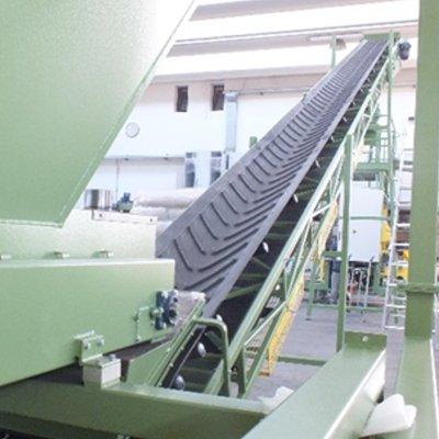 Конвейер шевронного типа для сыпучих материалов