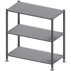 Шкафы с полками из нержавейки на производство