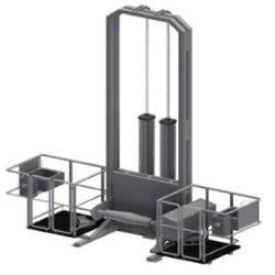 Пневматическая шкуросъемная машина для КРС с помостами