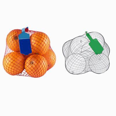 Упаковщик овощей и фруктов в сетку рукав с этикеткой WineGlass