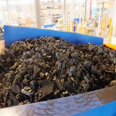 Подача угля на упаковку