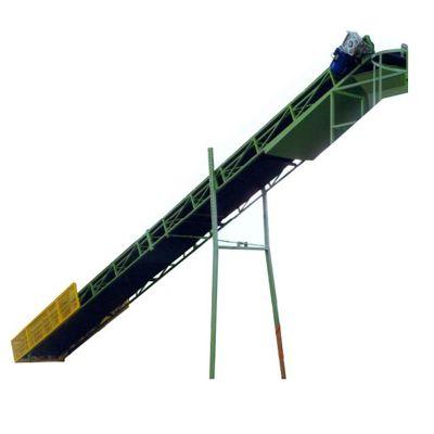 Шевронный конвейер для подачи торфа