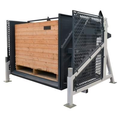 Опрокидыватель больших деревянных ящиков для овощей