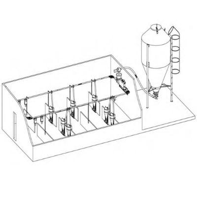 Подача и распределение корма на свиноферме