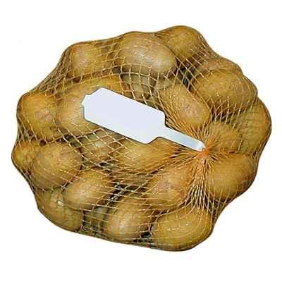 Упаковка картофеля в сетку рукав с WineGlass этикеткой